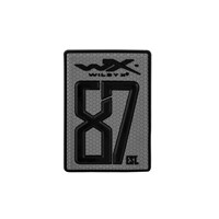 PATCH 87est. 55 x 80 mm GREY